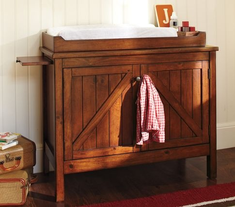 Farmhouse style changing table-this would look cute