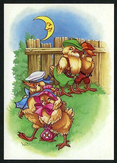 Своими, открытка петух и обезьяна