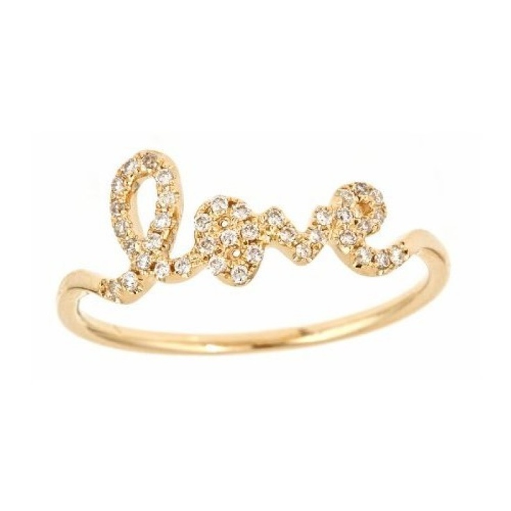 Sydney Evan - Yellow Gold and Pave Diamond Love Ring, Size 6 $860: Ring Sizes, Yellow Gold, Diamonds, Jewelry, Rings, Things, Love Ring