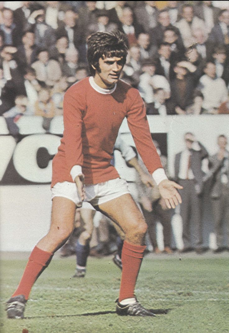18th January 1969. Manchester United winger George Best in action against Sunderland, at Old Trafford.