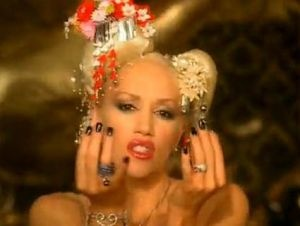 gwen stefani rich girl geisha look