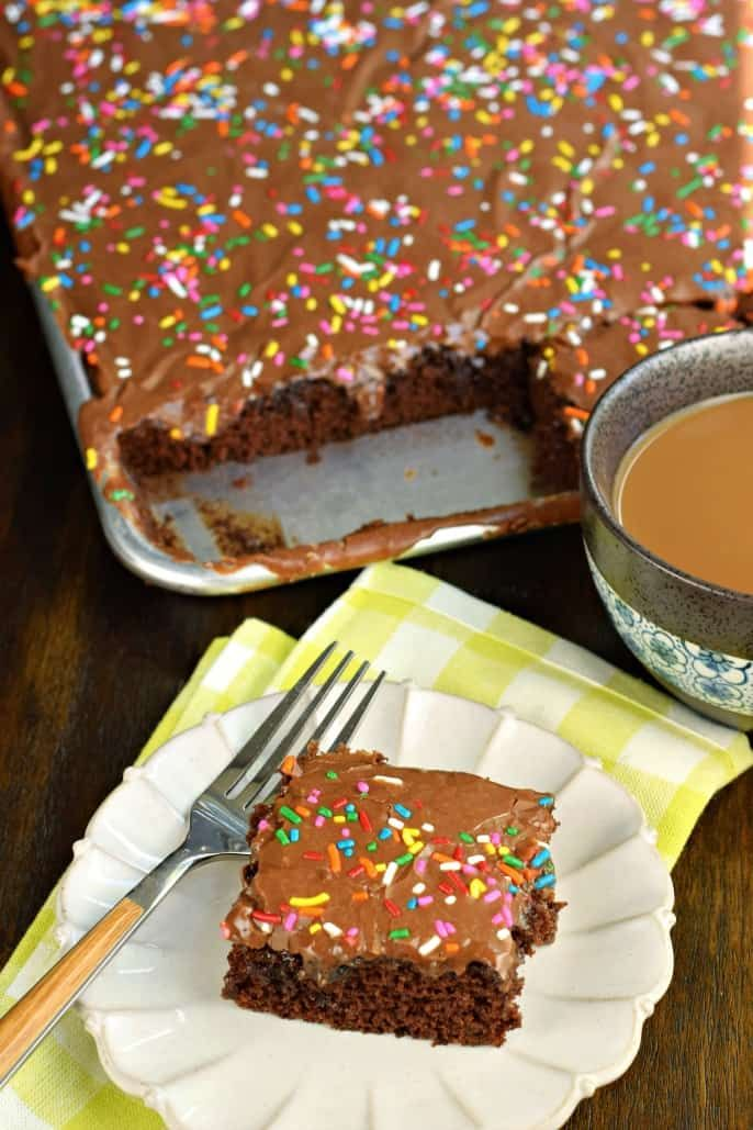 Easy One Bowl Chocolate Buttermilk Sheet Cake Recipe Fudgy Buttermilk Frosting On Top Perfect For A Crow Chocolate Sheet Cake Sheet Cake Recipes Cake Recipes