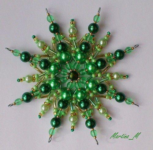 Vánoční hvězda * korálky