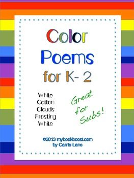 Writing Color Poems | Poems, Color poem, Teaching