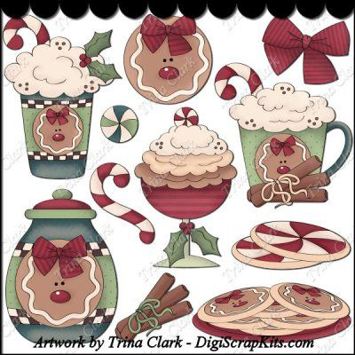 Christmas Sweets 1 Clip Art: http://digiscrapkits.com/digiscraps/index.php?main_page=product_info&cPath=434_435&products_id=8371 #TrinaClark #DigiScrapKits