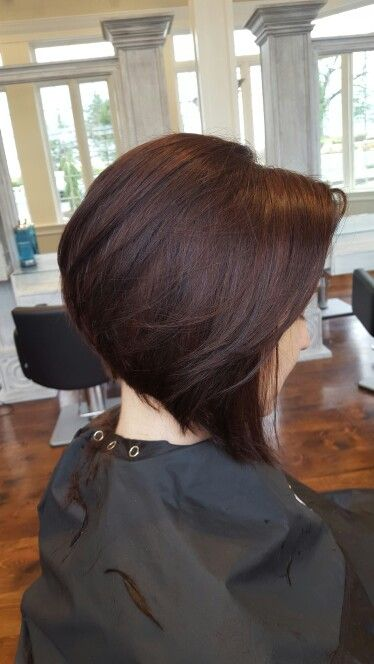 Dramatic Stacked Bob Hair By Katie Stacked Bob