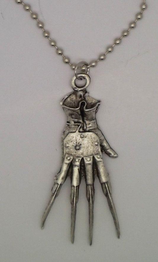 Freddy Krueger Glove horror Necklace by zantijewelry on Etsy