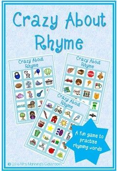 ***FREE RESOURCE*** Made for littlies, this game is a fun, interactive way of practicing rhyming words. Students pick a picture and think of a word that rhymes with the picture. For example, 'tree' rhymes with 'bee'. They then put a counter on the picture they chose. The first to five is the winner!