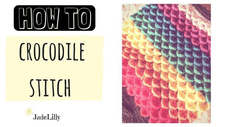 Crocodile Stitch Crochet Tutorial - Jade Lilly Crochet