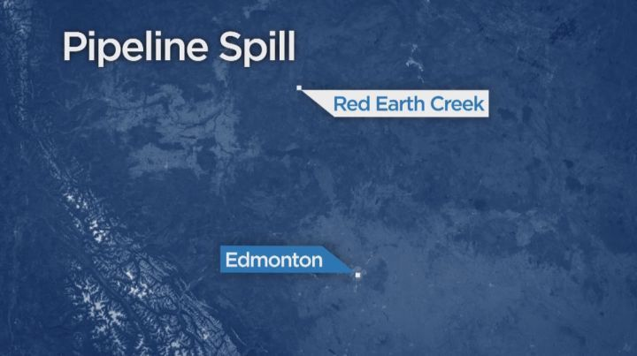 The Alberta Energy Regulator says close to 60,000 litres of crude oil have spilled into muskeg in the province's north.