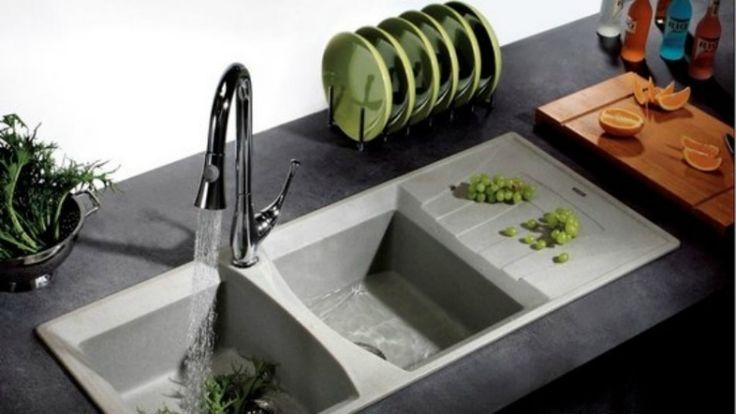 Évier de cuisine en pierre: idées en marbre, quartz ou granit ...