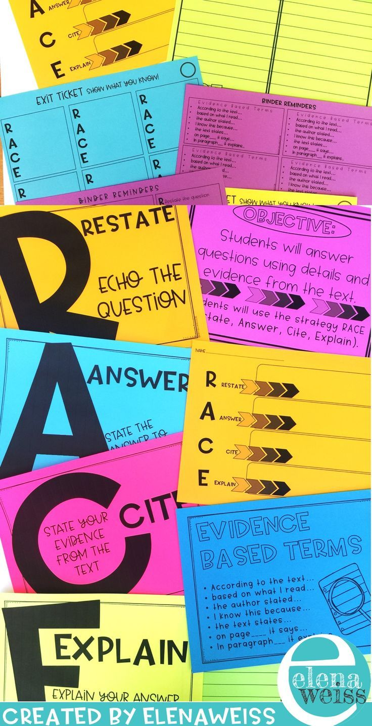 Race Posters Restate Answer Cite Explain Text Based Questions Reading Comprehension Activities Writing Activities [ 1435 x 736 Pixel ]