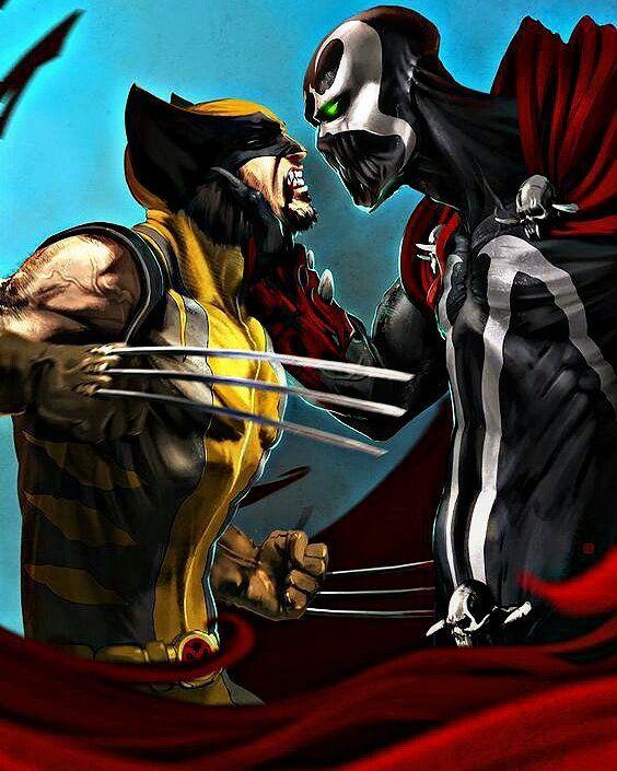 Who Would Win???  #Wolverine #vs #Spawn #Marvel #SuperHeroAlliance by devilzsmile.com #devilzsmile