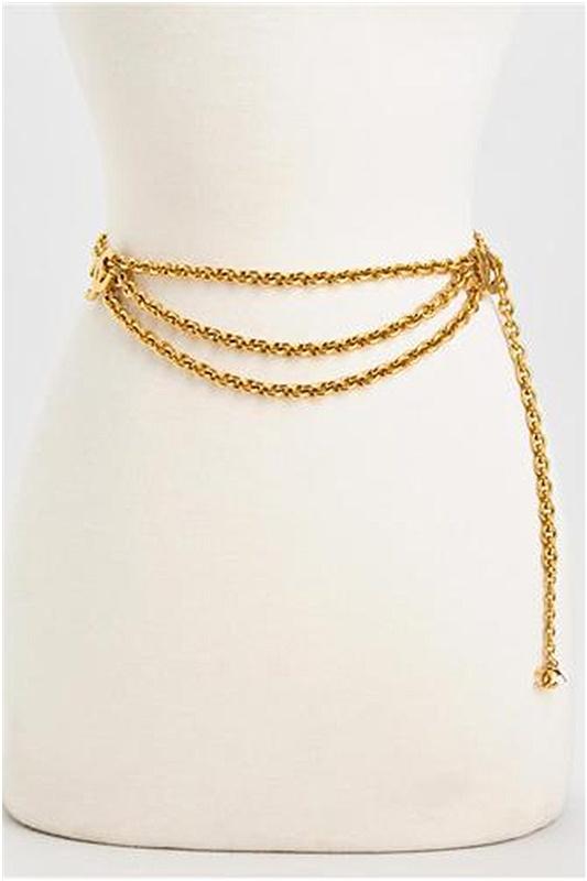 Chanel LN Vintage CC Long Chain Belt - Enviius
