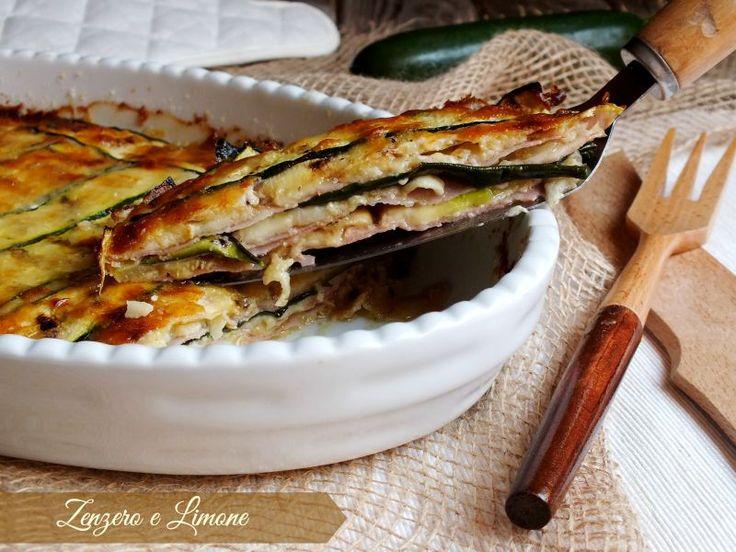parmigiana di zucchine - fetta