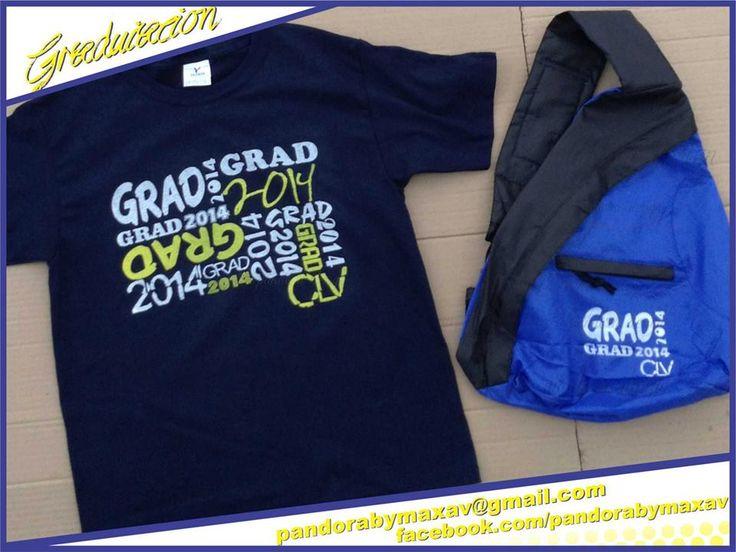 Playeras y backpack para graduados  #graduacion #graduaciones #promo #serigrafia