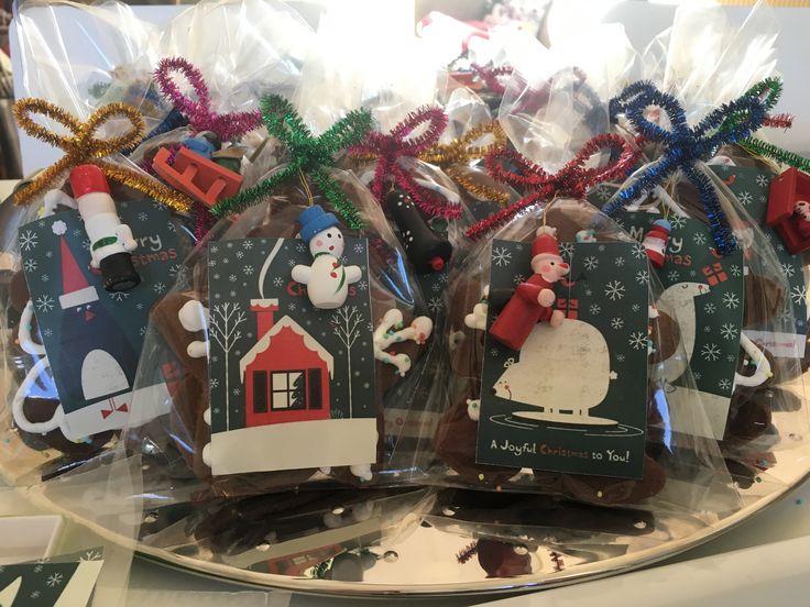 Gingerbread cookies treat bags 2016