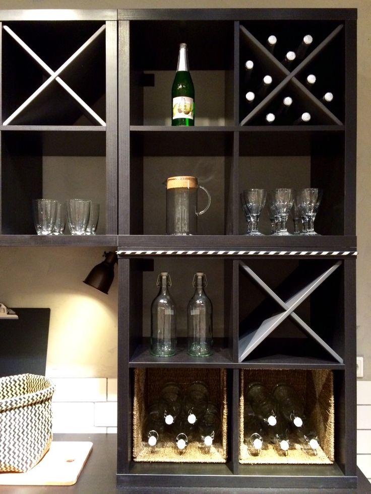 17 best images about ikea kallax on pinterest closet island ikea products and kallax shelf - Cave a vin ikea ...
