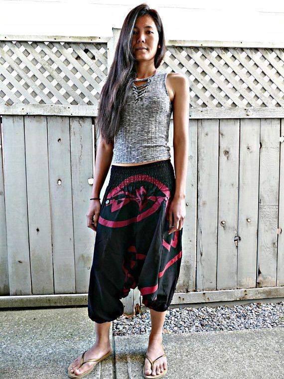 Black/Red Colour Short Harem Pants #fashion #shopping #harempants #joggers #style #love
