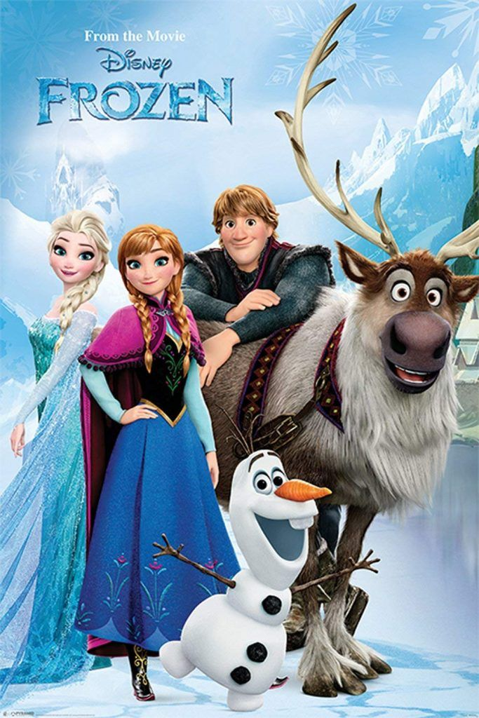 Disney Frozen Poster /> Anna /> Elsa /> Olaf /> Sven /> Princess /> Mini Poster//Print