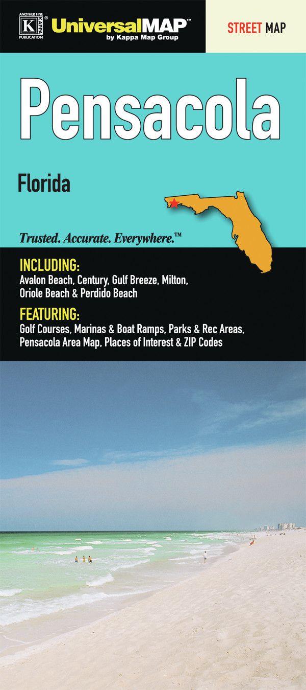 Pensacola Florida Fold Map 186 best Pensacola