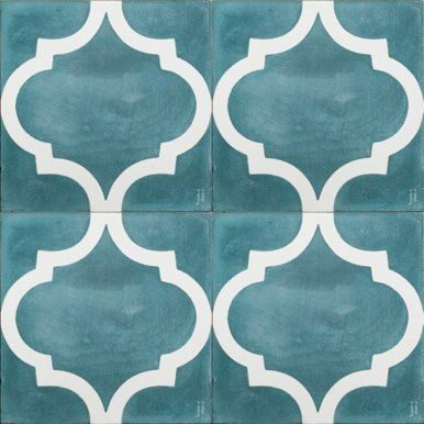 Teal Arabesque tile from Jatana Interiors - love this for our bathroom floor