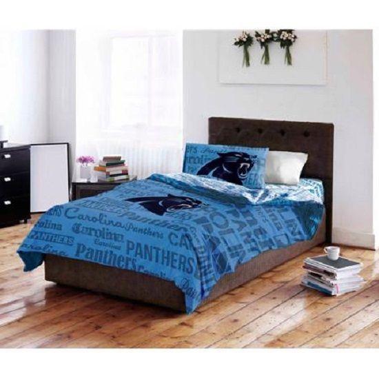 Carolina Panthers Bedding Set Full Blue 5 pc Comforter NFL Football Bed Gift NEW #CarolinaPanthers