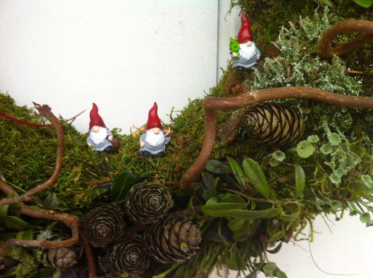 julkrans: God Jul, Jul Blommor