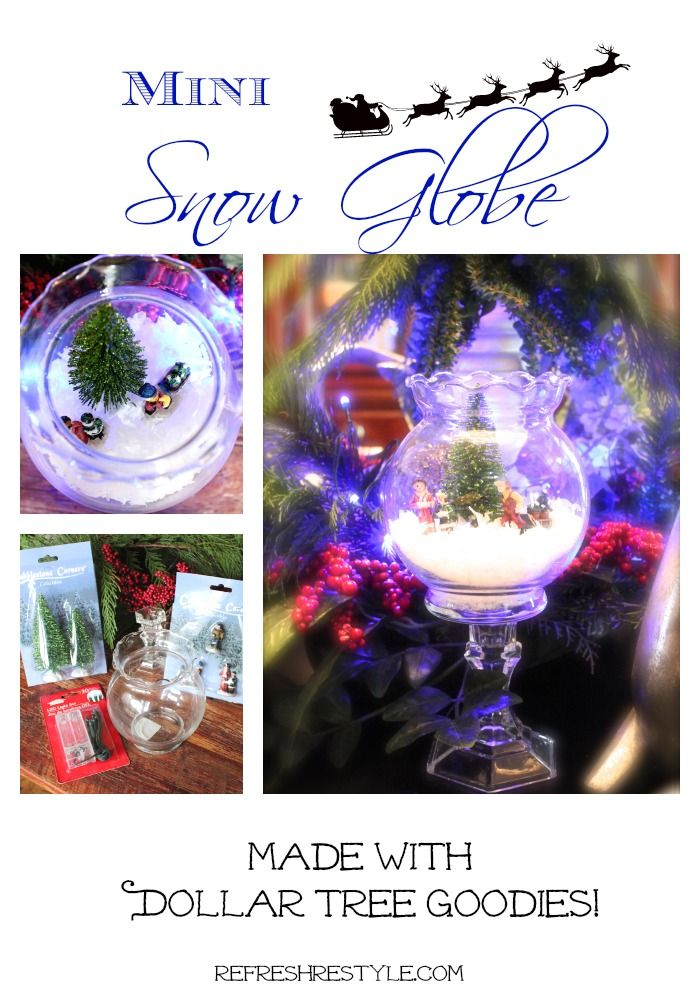 Mini Snow Globe - DIY - Refresh Restyle