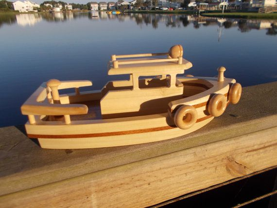 wooden tugboat free shipping on 2nd item by toymakerofsouthport