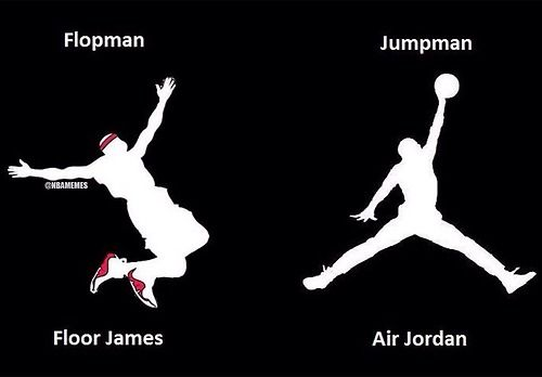 LeBron James vs. Michael Jordan: Logo Edition! #FloorMan... - http://nbafunnymeme.com/nba-memes/lebron-james-vs-michael-jordan-logo-edition-floorman