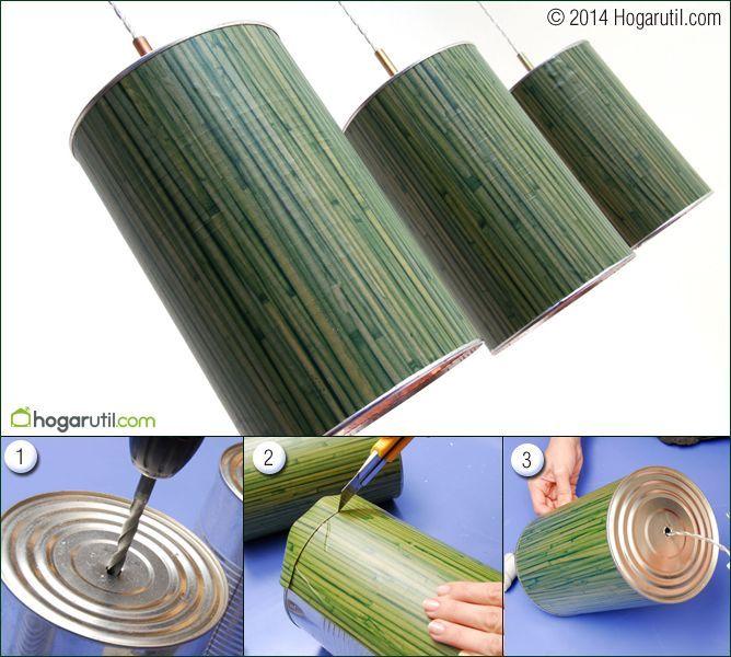 M s de 25 ideas fant sticas sobre l mparas caseras en for Lamparas decorativas para jardin
