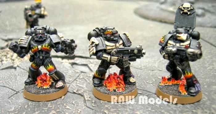 Conversion, Greenstuff, Imperial, Legion Of The Damned, Space Marines, Warhammer 40,000