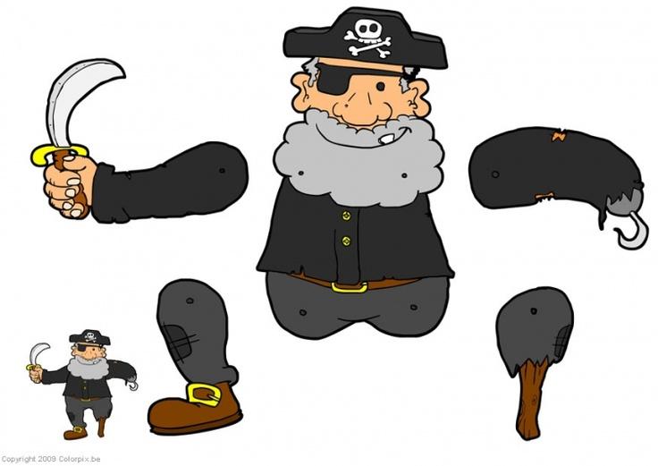 Pirate Craft- Jumping Jack à utiliser pour les parties du corps en allemand (créer le pantin)  ATTENTION : les CM2 ont déjà fait un pantin l'année dernière...