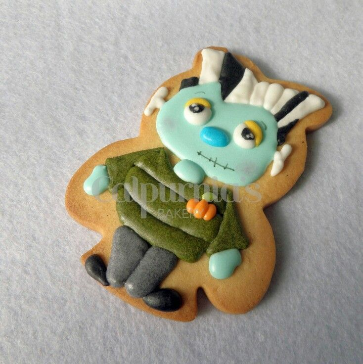 Zombie decorated cookie