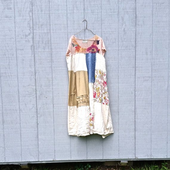 reserved for Nikki upcycled ladies womens clothing - these are great for playing in the city and then out to dinner - made from an upcycled cottons and knits - you will love the style of these - they flow so nicely! has that aline look - lots of patchwork! * color palette - earth tones. *would look great with a pair of boots, leggings or over jeans SIZE - as is Medium - XLarge - i can make it larger or a little smaller just let me know at checkout. Chest - 23 - across front ...