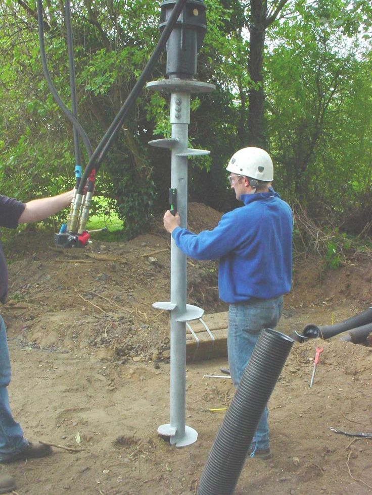 Helical Piles - screw pile foundations or helical anchors
