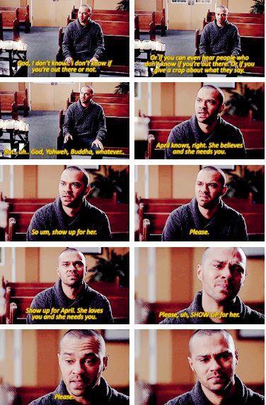 Grey's anatomy. This scene was so heart breakingly beautiful.