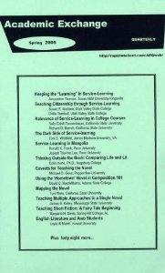 Online  Academic Exchange Quarterly