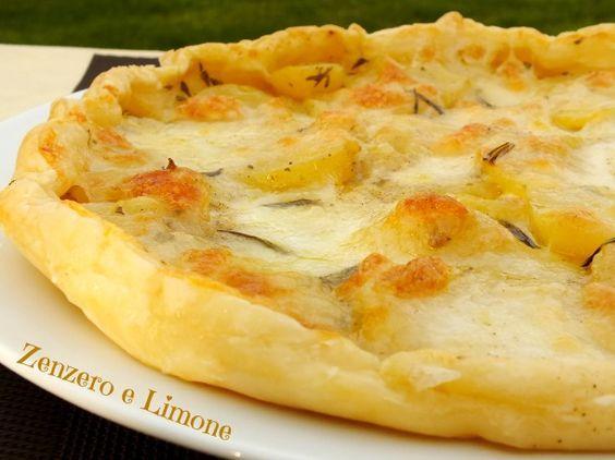 http://blog.giallozafferano.it/paola67/torta-salata-patate-mozzarella/ Torta con patate & mozzarella