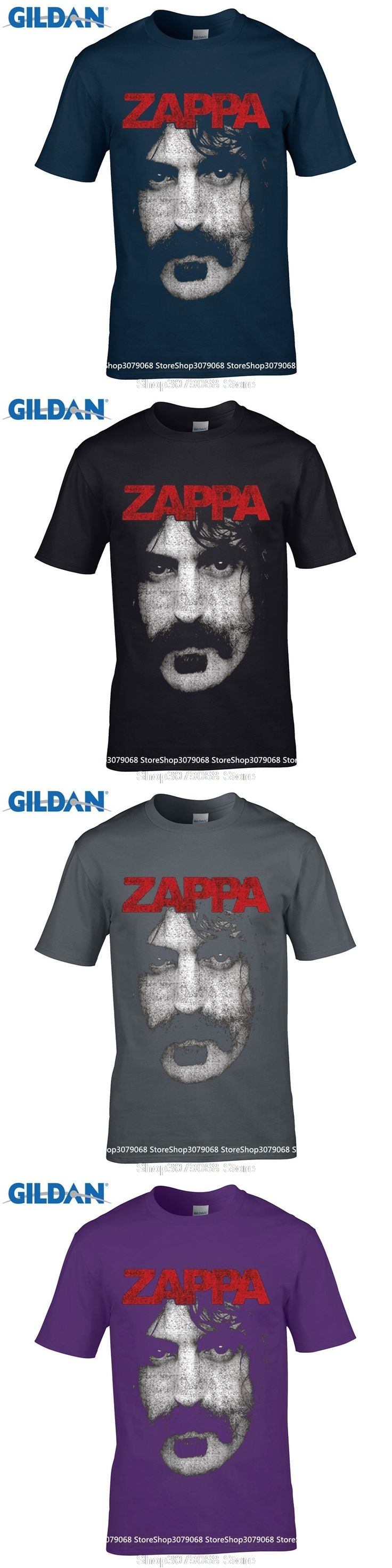 GILDAN Fashion T Shirts Summer Straight 100% Cotton Impact   Frank Zappa Photo Jersey T Shirt