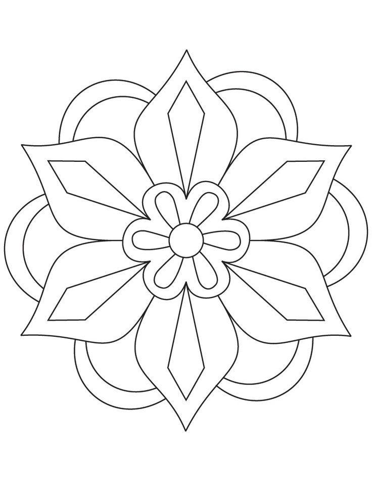 Kolam 5 Kolam Coloriage Mandala Simple Modeles De Mosaiques