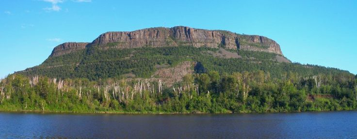 Mount McKay, a mafic sill related to volcanism of the Mid-continent Rift System in Thunder Bay, Ontario. It is the highest, most northern and best known of the Nor'Wester Mountains. It formed during a period of magmatic activity associated with the large Mid-continent Rift System about 1,100 million years ago