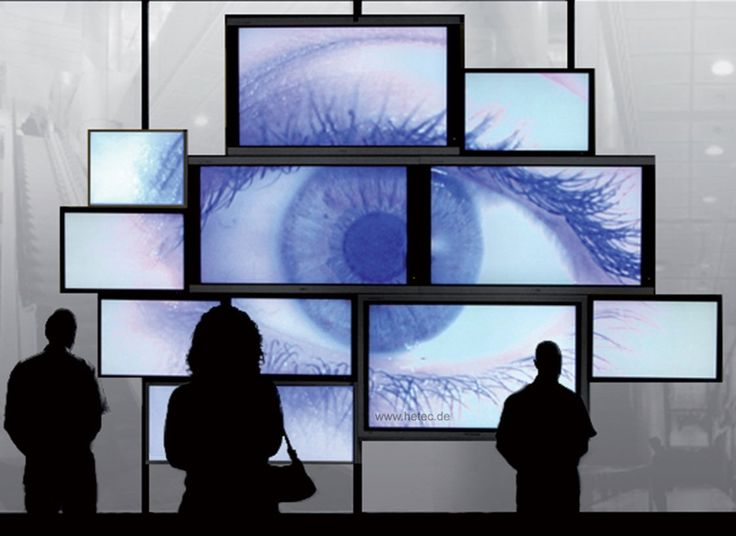 Video wall design like an EYE using different displays in one video wall control
