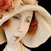 """Купить Авторская кукла """"Розовое масло"""" - белый, тюрбан, восточный стиль, восточный декор, подарок"""