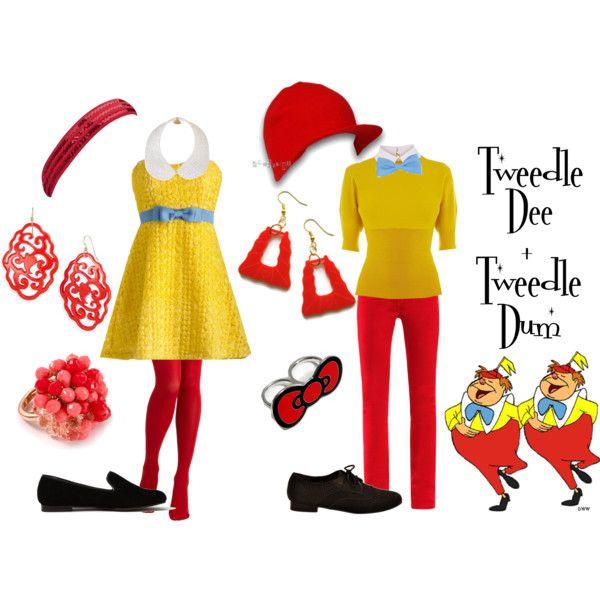 """Tweedle Dee and Tweedle Dum"" by alsni on Polyvore"