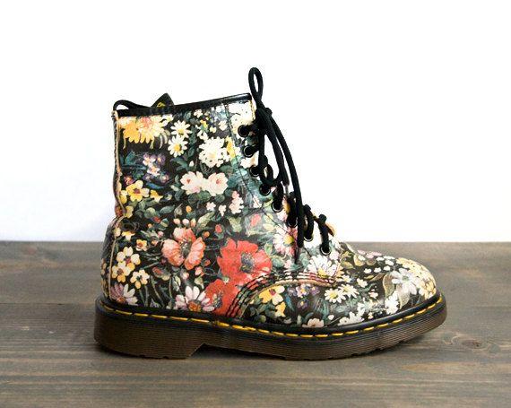 Floral Doc Marten's Boots