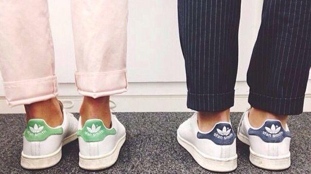 Maman, les plus belles chaussures ! Stan Smith verte et bleue  ! @camath2