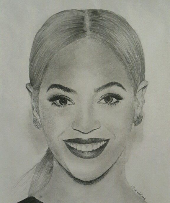 Face Drawing Portrait Of Beyonce Portrait Drawing