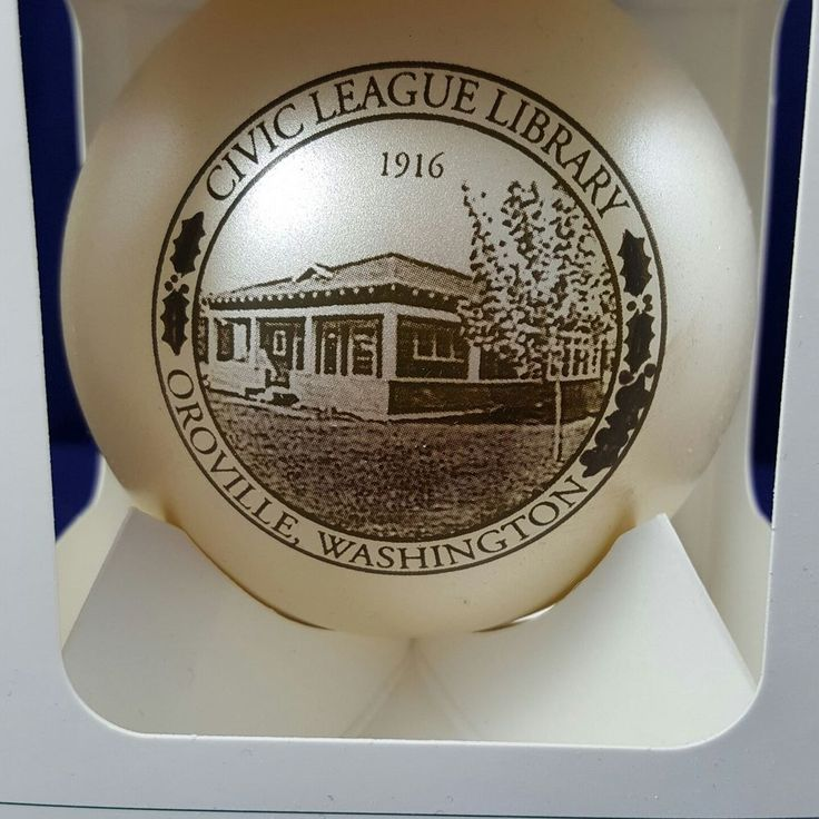 Civic League Library 1916 Oroville, WA Howe House Limited Editions Ornament